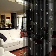 Ikea Beaded Door Curtains Cool Picture Of Living Room Decoration Using Black Bead