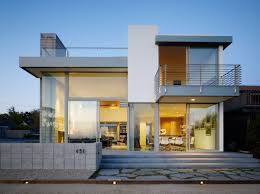 elegant modern design contemporary modern home with warm lamp can