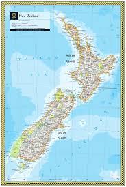 Map New Zealand New Zealand Atlas Maps