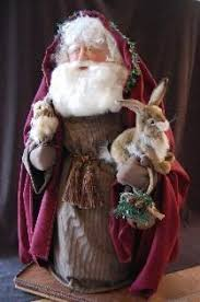 Santa Claus Dolls Handmade - another of my sculpted santa s i curled his beard and hair