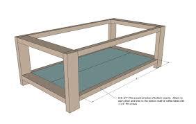 furniture diy coffee table plans brown rectangle simple wood diy