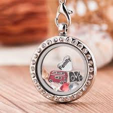 pandora locket necklace large images Crystal living locket with birthstones floating charms chains necklace jpg