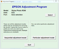 epson r230 waste ink pad resetter free download adjustment program or software resetter epson stylus photo r360