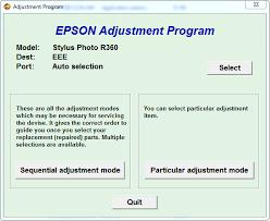 resetter epson r230 windows adjustment program or software resetter epson stylus photo r360