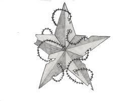 Nautical Star Tattoo Ideas Nautical Star Tattoo With Barbed Wire Nautical Star Tattoo With