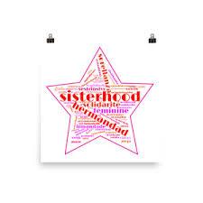 sisterhood star red outline stargoods inktale