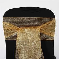 gold chair sashes glittery pinstripe chair sash 7 5x108 gold 5pcs efavormart