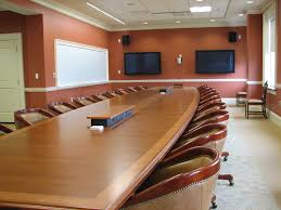 Boat Shaped Boardroom Table V Shaped Conference Table With Cantilevered Top And Contrasting
