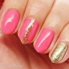 pink u0026 glitzy gold nails krystal c u0027s beautybykrystal