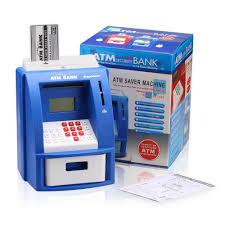 excelvan mini home kids atm digital bank coin note money counting
