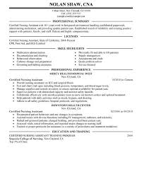 Nurse Assistant Resume Sample by Sample Examples Of Cna Resumes Cover Letter Certified Nursing