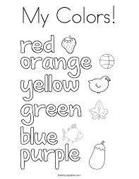 color words coloring pages twisty noodle