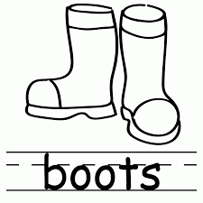 boots coloring pages coloring page coloring home