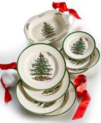 spode dinnerware set of 4 tree dinner plates