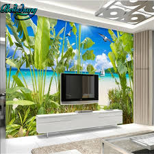 beibehang tropical rainforest coastal landscape decorative