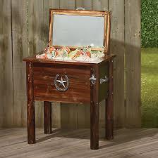 vintage 54 quart qt cooler ice chest country wood box patio deck