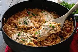light and easy dinner light italian one pot salmon orzo recipe julie s eats treats