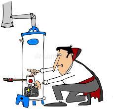 lighting a gas water heater vire lighting a water heater stock illustration illustration of