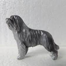 bearded collie mini collie pewter mini model ornament