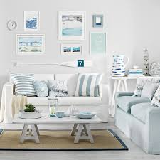Nautical Sofa Small Beach House Living Room Coastal Nautical Style Decor White