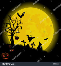 halloween silhouette background halloween background bright full moon vector stock vector 85671091