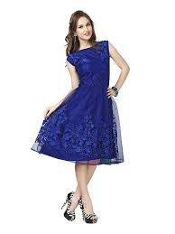 100 electric blue dress linen ruffle wrap topshop usa black