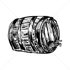 beer cartoon black and white german beer barrel with tap vector image 1977003 stockunlimited