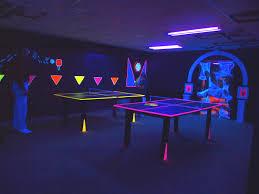 glow a rama blacklight game room in the dark