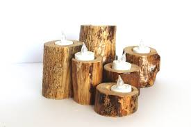 6 wood tea light holders tea lights not included