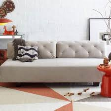 west elm tillary sofa west elm tillary tufted sofa bed couch grey for sale in san