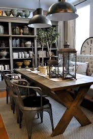 dining table with metal chairs dining room loving this dining room the rustic table metal chairs