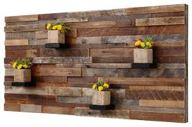 reclaimed barn wood wall photo in rustic wood wall decor home