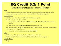 Quality Comfort Systems Leed Nc Indoor Environmental Quality Intent Slide Editor James A
