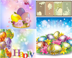 happy easter templates vector free stock vector art