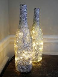 Good Looking Led Candle Chandelier Diy Lamp From Wine Bottles