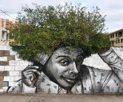 graffitti tree hair mixture imaginative