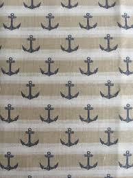 fabric tan and navy anchor fabric by the yard quilt fabric apparel