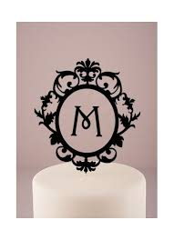 cake topper monogram personalized floating monogram cake topper david s bridal