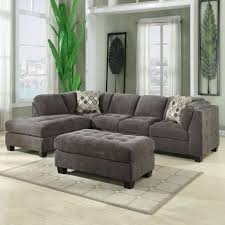 Chenille Sectional Sofas by Trinton Sectional 2pc Raf 1 Arm Sofa U0026 Laf Chaise In Pewter