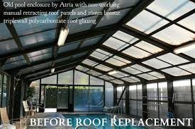 Fiberglass Awning Panels Pool Enclosure Roof Repair And Replacement For Older Polycarbonate