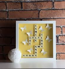 scrabble wall art scrabble frame gift for her christmas present