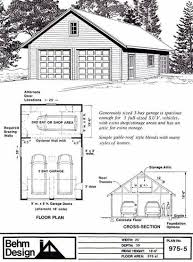 garage plans two car garage with shop and attic roof plan 975 5