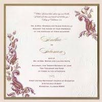 Indian Wedding Invite Indian Wedding Invitation Card Justsingit Com
