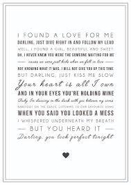 ed sheeran perfect text digital ed sheeran perfect song lyrics typographic