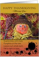 missing you on thanksgiving cards from greeting card universe