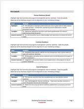 marketing launch postmortem template u2013 clickstarters