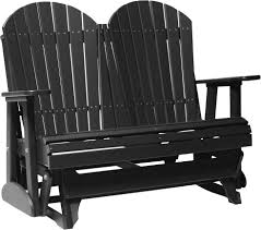 Outdoor Glider Chair Luxcraft Poly 4ft Adirondack Style Glider Swingsets Luxcraft