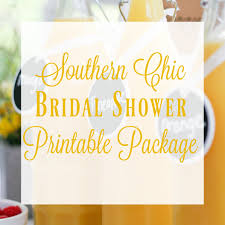 bridal shower planner southern chic bridal shower printable package wedding