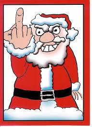 finger santa card