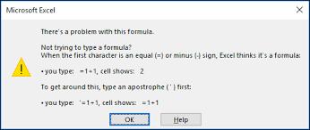 how to avoid broken formulas office support